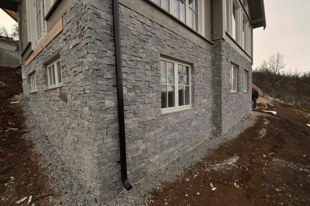 Fasadestein - Geilo Steinpanel vegg