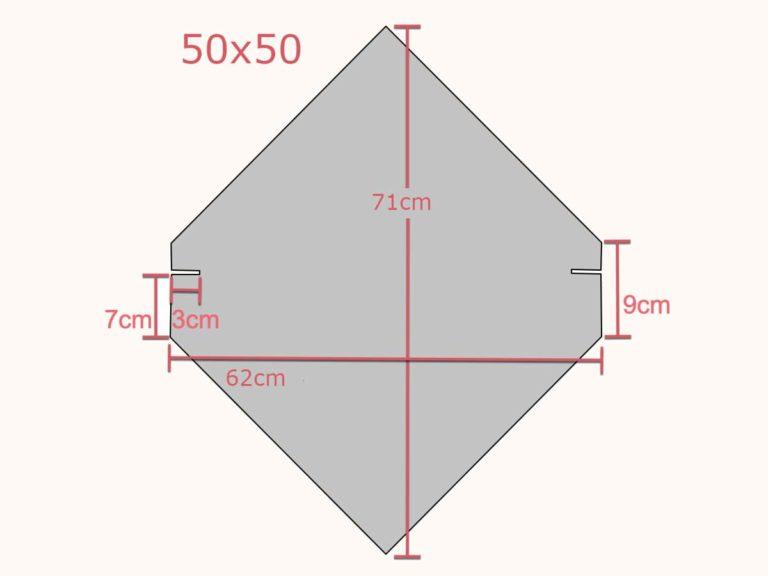 takskifer 50x50 med mål
