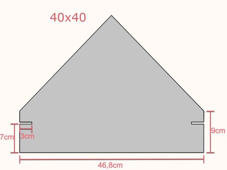Fotstein 40x40 med mål
