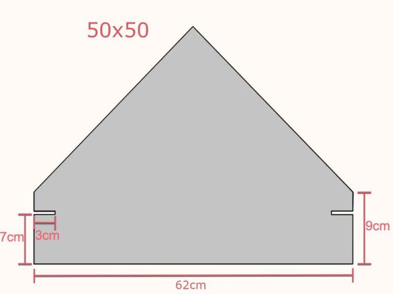 Fotstein 50x50 med mål